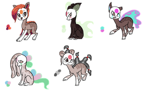 Finnedyr Adopts (5) -CLOSED- by HitMeWithBrokenLeave
