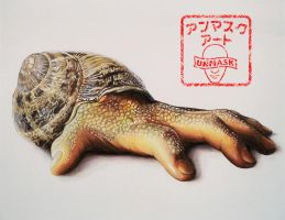 Hand-some Snail by UnmaskArt