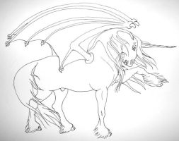 Draconicus Lineart by Scaequestrian