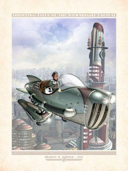 Gwen in Her Hepmobile Rocket by BWS