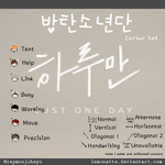BTS Cursor Set by lemonatte