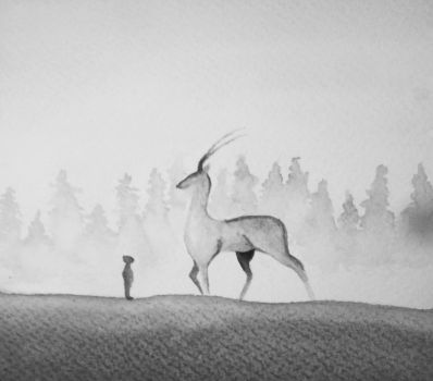 Encounter with a deer by Lelizcausa020294