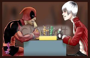 Dante versus Deadpool by Nasdreks