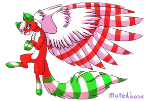 Closed 10 point Christmas wolf by ArdsAdopts