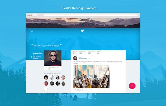 Twitter Redesign Concept by jonathanlois