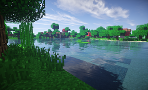 Looking Upon a Lake (Minecraft) by Doomdestroyer98