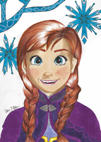 Disney - Frozen: Anna by Oskar-Draws