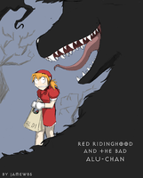 Redridinghood and evil aluchan by jamew85