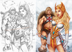 He-Man and She-Ra Side-by-Side by SarahPerryman