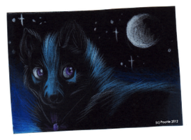 Darkest Nights - ACEO Trade by PoonieFox