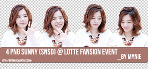 Pack 4 PNGs Sunny(SNSD) @ Lotte Fansign event  by bttmy
