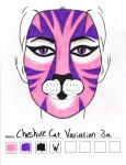 Cheshire Cat Variation 3a makeup sketch by toberkitty