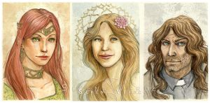 Watercolour portrait commissions: 1-2-18 by SerenaVerdeArt