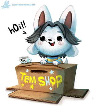 Daily Paint #1153. Temmie (Undertale) by Cryptid-Creations