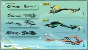Squ:d Ship Concepts by JustMick