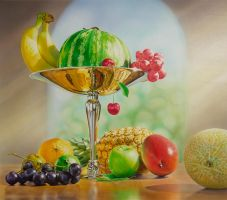 Fruit-Composition by illugraphy