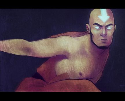 Avatar Aang by andrahilde
