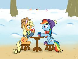Winter Hang Out by MrEmerald34