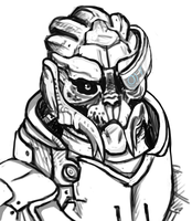 Garrus Sketch by Potionic