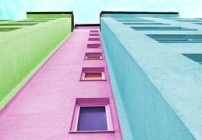 Colorful building by kupenska