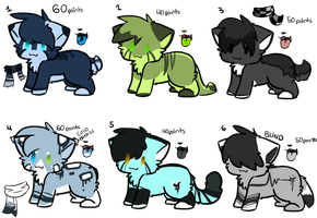 Adoptables Batch 1 :SOLD: by Chiiboo