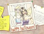 Rose and Lissa's Halloween by achelseabee