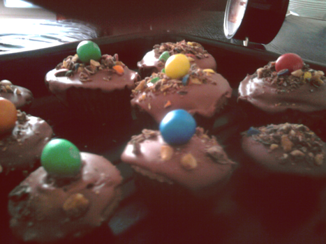 My m'and'm's cupcakes. by C-Jady
