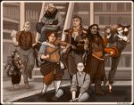 Commission: Steampunk Roleplaying Group by Jackie-M-Illustrator