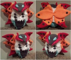 Volcarona Plush by SharSharKittycorn