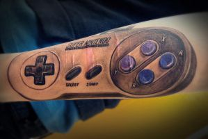 super nintendo entertainment system by BoyWithWings