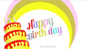 Free Funny Birthday Cards PSD - cssauthor.com by cssauthor