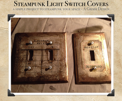 Steampunk Switch Plate Cover DIY by aGrimmDesign