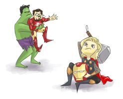 Avengers Quarrel by Rinska
