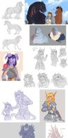 Warcraft sketch dump by Kerneinheit