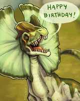 Happy Birth-Dilophosaurus ! by Kikane