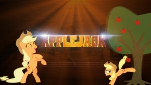 Applejack Wallpaper by Dropgasm