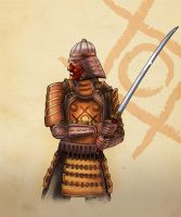Samurai concept for game by Vadich