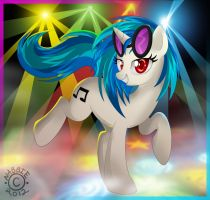 Dancing with Vinyl Scratch by NabbieKitty
