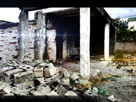 old house destroyed,,.. by Gold-F