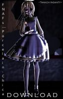 {MMD x FNAF} Porcelain!Chica-DL 400 Watchers Gift by Tamachi-Insanity