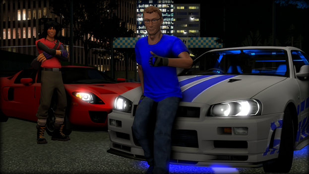 (SFM) Me and Ibrxgmod with our cars by TheBRSteamer95