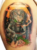 Upper arm tattoo by graboart