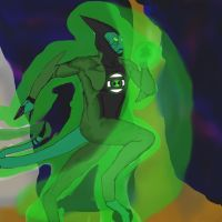 Ben 10 crossover - XRL8 of Green Lantern Corp by dragonfire53511