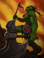 Marching Warcraft Orc by Kritzlof