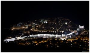 Dubrovnik at night by roopi