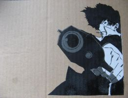 Spike Spiegel - Stencil by moon-glaze