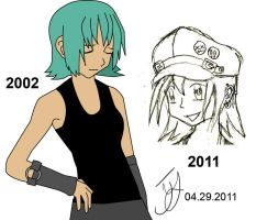 Mina 2002 and 2011 Rough Sheet by x-Beatrush-x