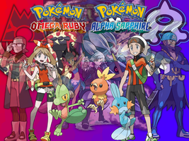 Pokemon Omega Ruby and Alpha Sapphire Wallpaper by fakemon123