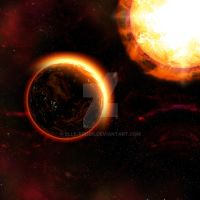 Planet Sun Rise with Sun Background by Elle-Arden