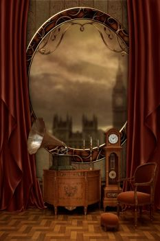 Premade -steampunk- background by mevica